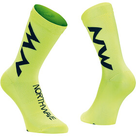 Northwave Extreme Air Mid Socks, yellow fluo/black